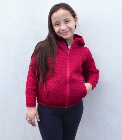 Renegade youth kids-full-zip fleece blank for embroidery checkered wholesale