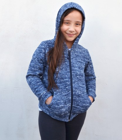kids youth toddlers blue ultra soft jacket, hood renegade club blanks for embroidery wholesale