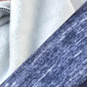 blue white signature fleece fabric, fuzzy soft renegade club
