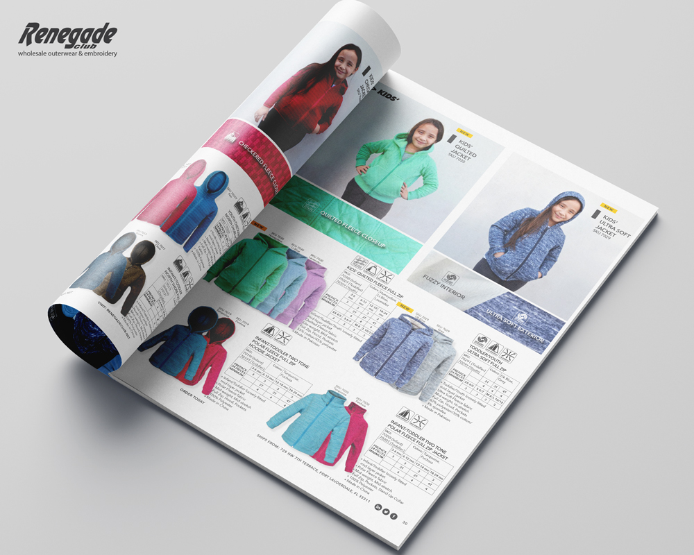 2020 renegade catalog mockup pages kids girls sweatshirts wholesale embroidery