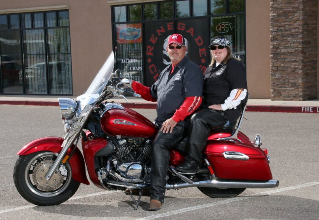 Couple Riding Motorcycle Albuquerque