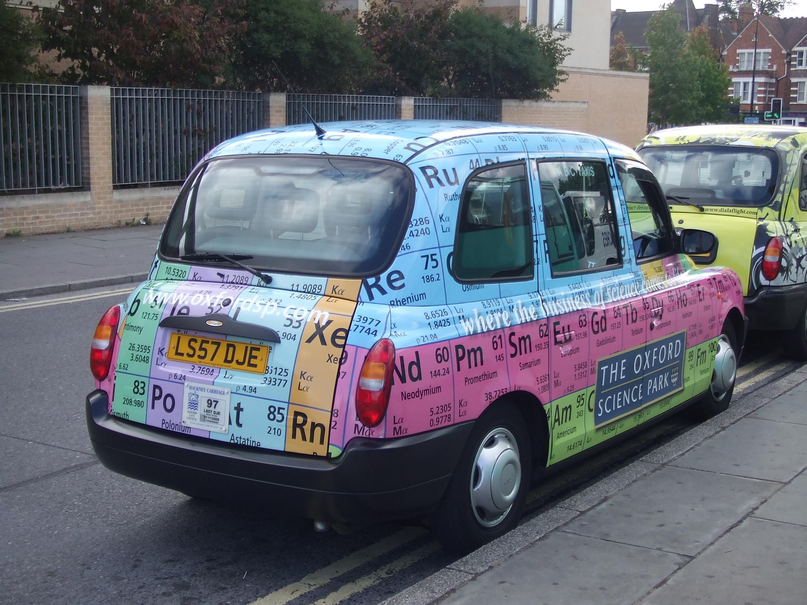 Zondag jl; Taxi in Oxford (foto: René Hoeflaak)