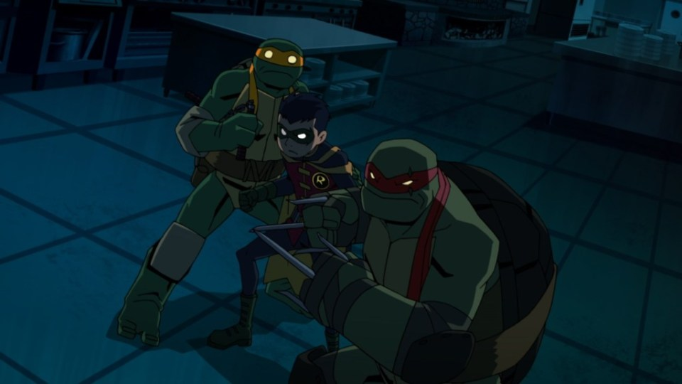 Batman vs Teenage Mutant Ninja Turtles team up