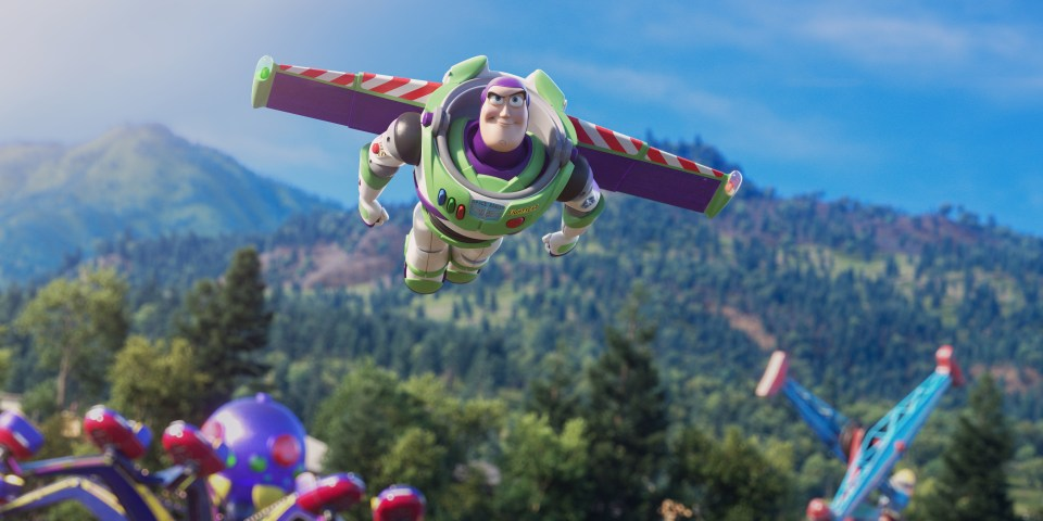 Buzz Lightyear in Aktion in Toy Story 4