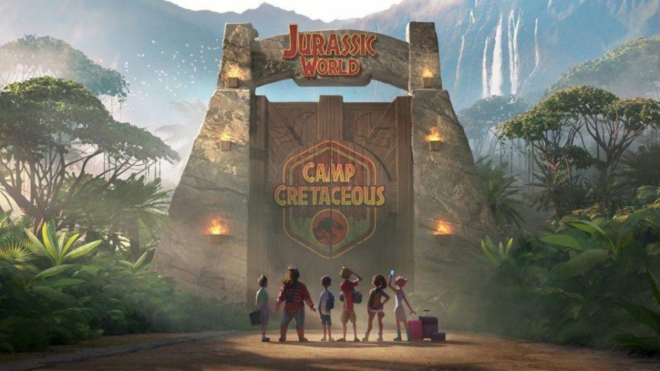 Das typische Tor darf natürlich auch in Jurassic World: Neue Abenteuer nicht fehlen! (Bild: Netflix)