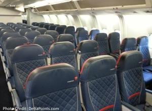 Delta 767-300 domestic comfort plus seat 1 Delta points blog