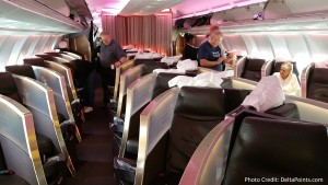 Virgin Atlantic Upper Class seats A330 Atlanta to Manchester England Delta Points blog (2)