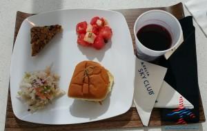 DeltaONE pre-flight meal in Delta Sky Club RenesPoints blog (2)