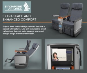 email ad for singapour airlines premium economy seats