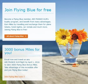join klm flying blue earn 3000 bonus points after one flight