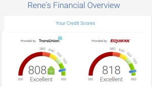 my credit score from CK
