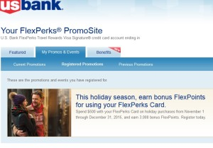 my usbank flex perks offer