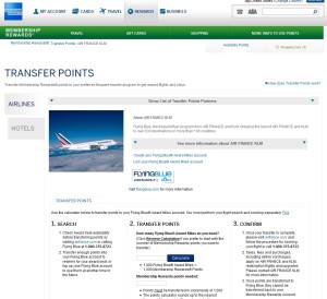 send points to flying blue from amex membership rewards