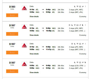 C Atlanta to Hong Kong Mileage Run Fares Kayak
