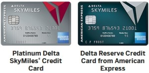 delta amex cards platinum and reserve cards
