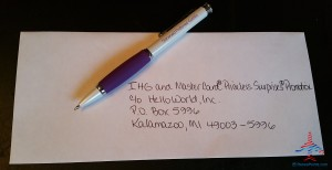 hand addressing my ihg mastercard promo letters renespoints blog