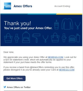 amex offers to you