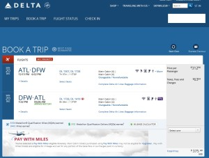 atl to dfw rt delta-com oneday