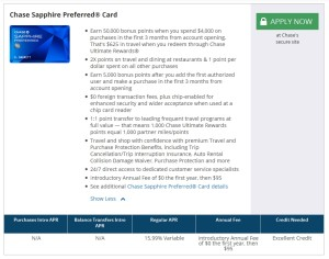 chase sapphire 50k card offer
