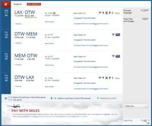 delta-com lax to mem via dtw