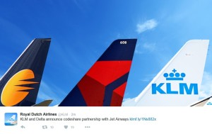 klm tweet about jet airways