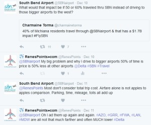 my tweets with sbn airport about flying from sbn airport