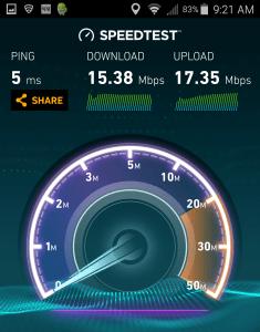 wifi speed Escaple Lounge MSP