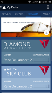 inside the fly delta app my skymiles card and more