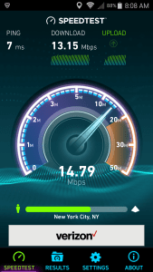 speed on phone via connectify hotspot