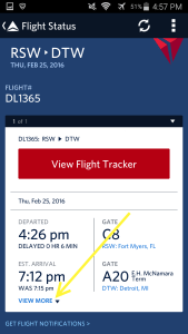Use Fly Delta APP to track inbound airplane and arrival gate and time renespoints blog (2)