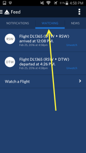 Use Fly Delta APP to track inbound airplane and arrival gate and time renespoints blog (7)