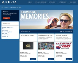 refresh of delta skymiles experiences page on delta-com