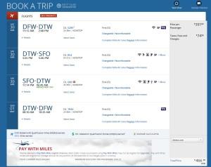 weekend dtw to sfo via DTW delta-com