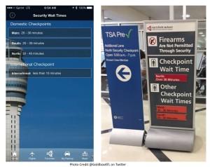 GoldboxATL from twitter tests iflyATL app vs TSA signs at ATL airport renespoints blog