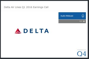 delta 1Q16 earnings call