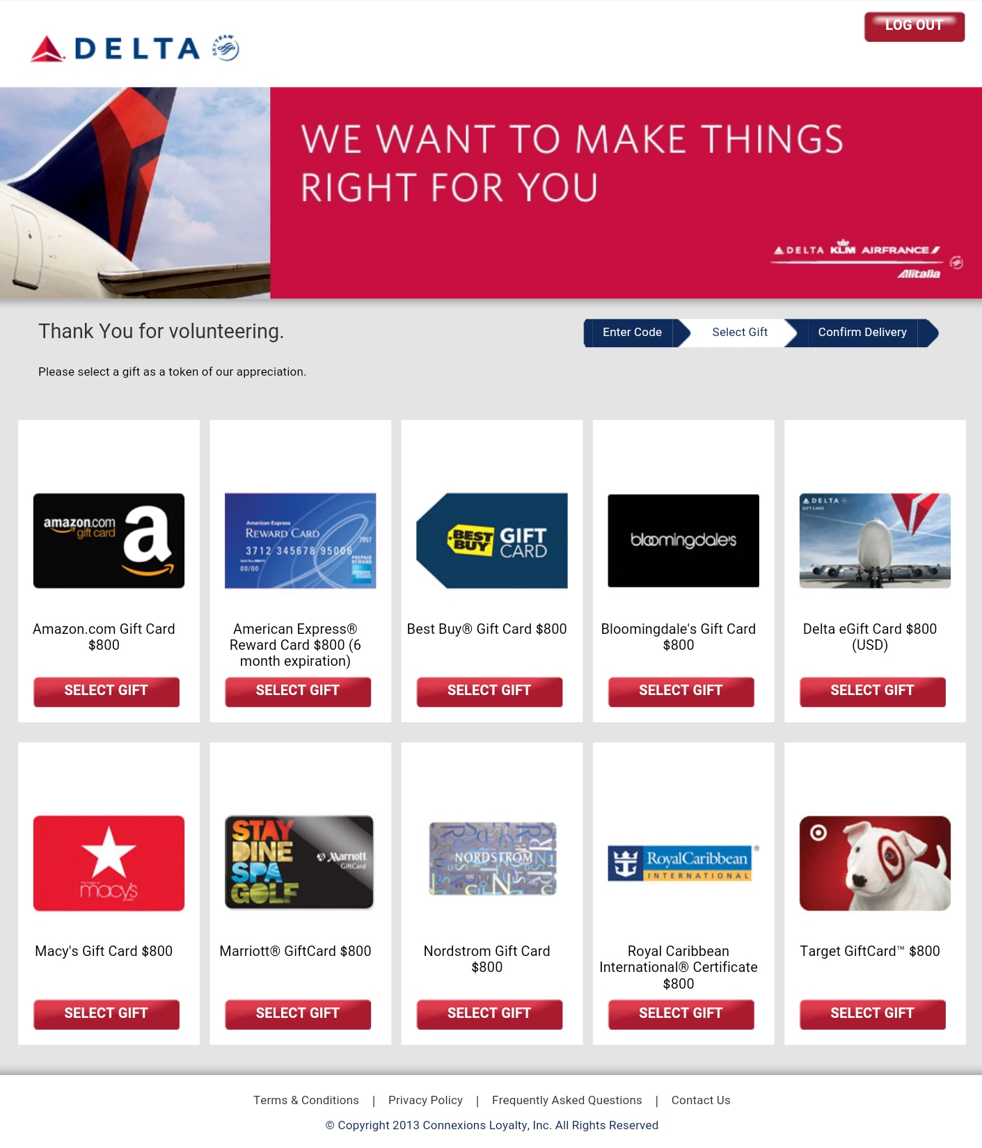 Amex Travel Credit Delta Gift Card