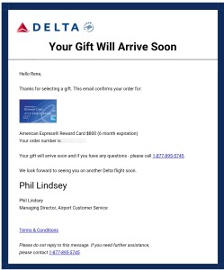 Have you taken a Delta AMEX gift card bump? It is so simple (and ...