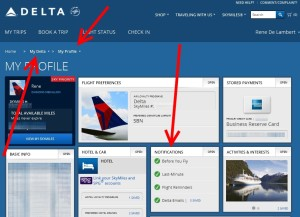 delta notifications in my delta