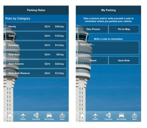 parking rates and reminders in iflyATL airport app renespoints blog