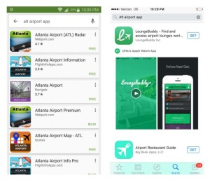 search for atl airport app is not good must search iflyATL app renespoints blog