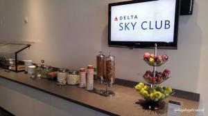 Delta DFW SkyClub E11 Food Service Line (1)