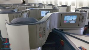 Delta ONE seat on Delta Air Lines 747 RenesPoints blog