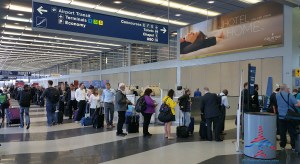 Delta ORD TSA PRE-Check line is long after 5PM on a thursday RenesPoints blog
