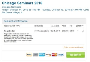 chicago seminars 2016 tickets on sale