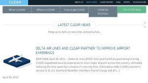 news from CLEARME web site