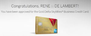 approved biz delta amex card