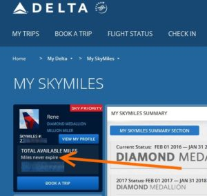 miles never expire from sky panal group delta