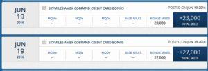 my delta amex card bonus