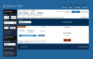 price setment only atl to ams
