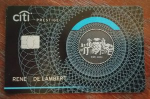 renes citi BANK prestige card